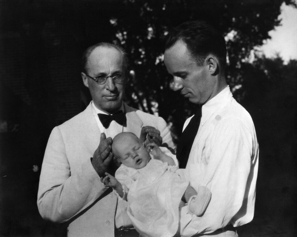 July 13, 1931.  Lee Phillips and Lee Phillips Jr. with Lee Phillips III.
