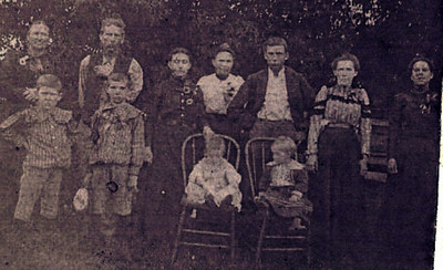Family of William Long Hunter and Cora Edna (Thing) Hunter (about 1900)