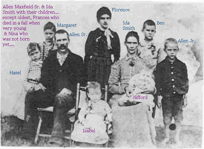 Allen and Ida (Smith) Maxfield Family