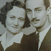 My parent's engagement pic, c. 1940, Debrecen