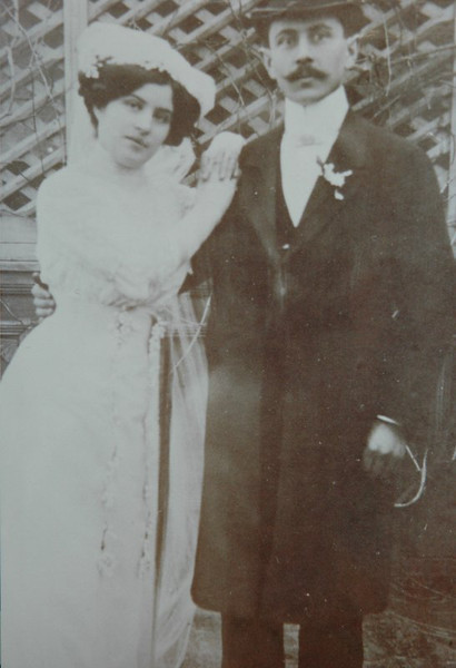 Zsigmond and Ella Glattstein wedding, 1911