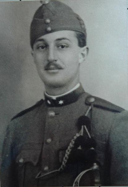 Miki in army uniform, ~1940, Debrecen