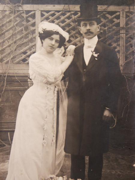 Ella Grunberger - Zsigmond Glattstein wedding 1911, Hajdúszoboszló
