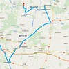 We hired a guide from Discovering Roots in Poland. I had sent her (Kasia) information on  our Polish ancestors and she found the villages they lived in and the churches that they went to. This is the route we took on Sunday, covering the area where Chester Wojtkowski's ancestors were from.