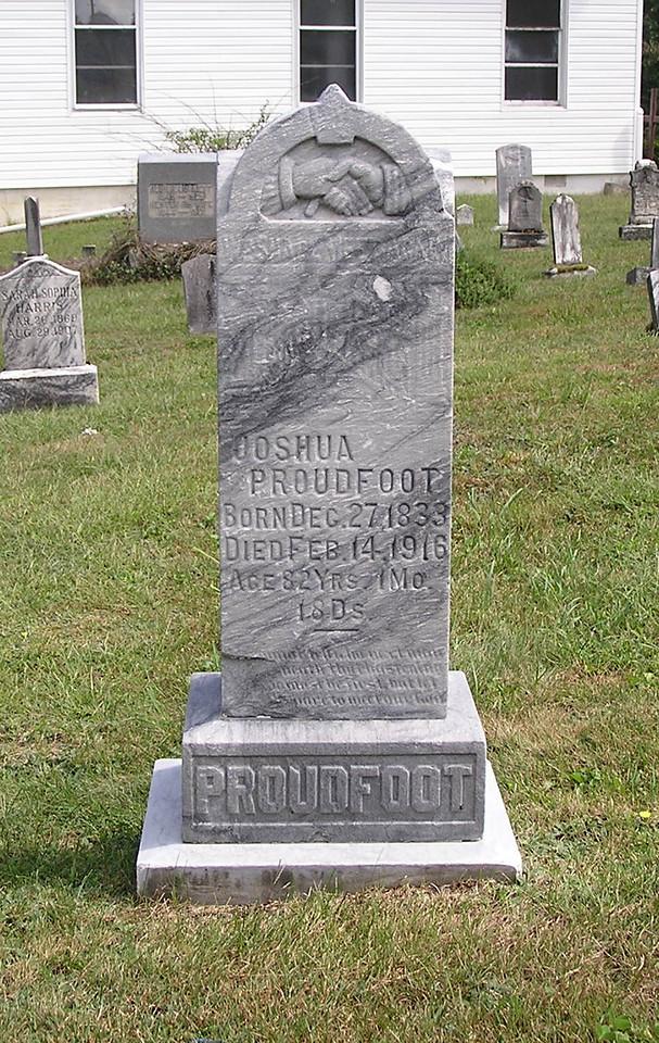 Joshua Proudfoot headstone, 1917