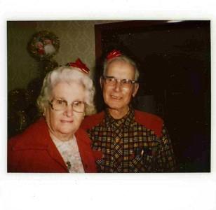 Reta and James christmas photo.