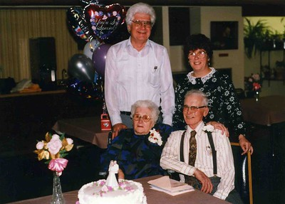 Max Beverly with Reta and James, 65th weding aniversary.