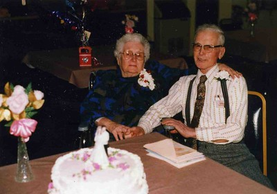 Reta and James. 65th weding aniversary.