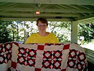Gilda with flag quilt (b)