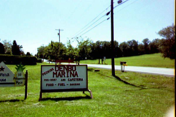 Denbo Pa Marina Sign