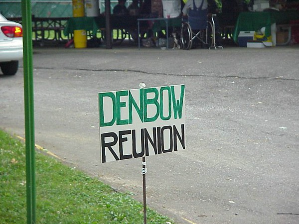 Denbow Reunion Sign
