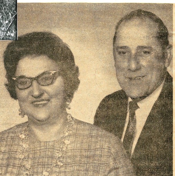 "Dorothy Kathryn (Mathiot) Dew (1925-1996), Robert Eugene Dew (1922-1971)  Written in the Rogers Reunion Photo Album Volume III page 51 ""Mr. and Mrs. Robert Dew will celebrate their 25th wedding anniversary on Sunday, May 26."""