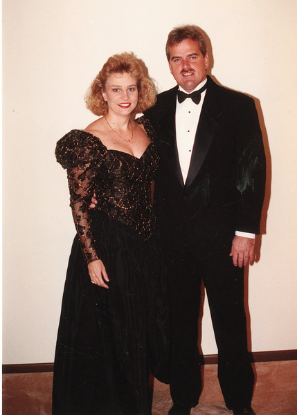 "Catherine Elizabeth Dew b. 12-12-55 and husband Randal Allen Hainle b. 4-4-58 Written in the Rogers Reunion Photo Album Volume III page 120 ""1991"""