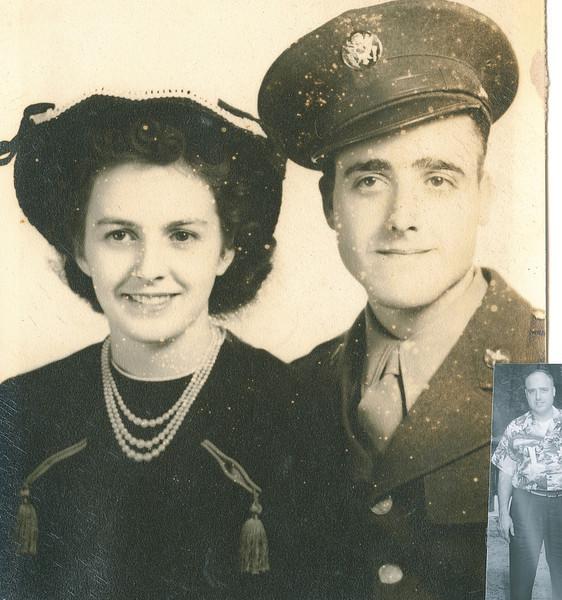 "Helen Elizabeth (O'Brien) Dew (1924-2000), Alvin Glen Dew (1920-2006) Written in the Rogers Reunion Photo Album Volume III page 46 ""Wedding Photo Amarillo, Tx 1943"""