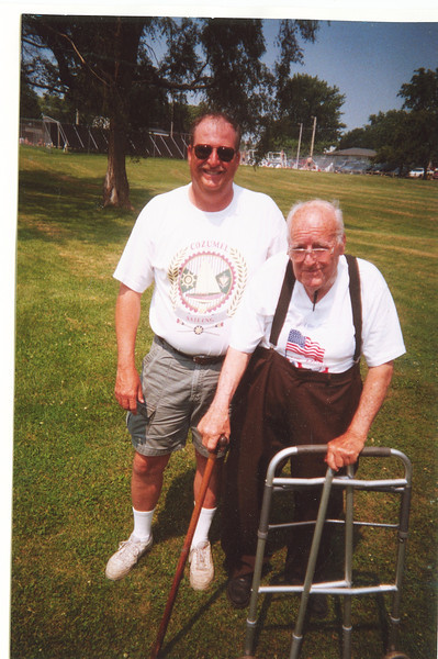 "Bradley James Dew (1959-), Alvin Glen Dew (1920-2006)  Written in the Rogers Reunion Photo Album Volume III page 47 ""Glenn Dew & son Brad Rogers Reunion 2002 June"""