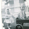 "Pamela Sue Habben (1952-) and brother Steven Gary Habben (1949 -)  Written in the Rogers Reunion Photo Album Volume III page 96 ""Pam, Steve with wagon. Pamela Sue and Steven Gary Habben"""