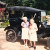 "Glenna Ellen (Dew) Bingaman (1900-1997) Josie Louisa (Dew) Brinker (1897-1999) Written in the Rogers Reunion Photo Album Volume III page 64  ""1989 Rogers Reunion Glenna & Josie …. Glen Dew's 1915 Model T"""