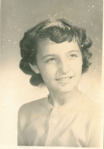 """Jeanette Irene Voss born 1948.  Written in the Rogers Reunion Photo Album Volume III page 132 on the back of the photo """"Jeanette dau of Donna (Dew) (Voss) (Griffiths) Baunez"""""""