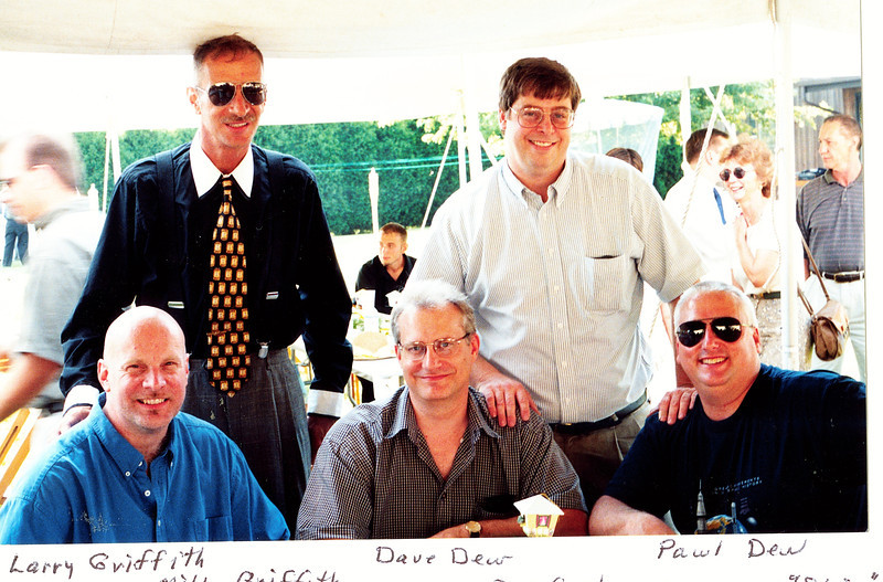 "Front: Larry Alan Griffith b. 1958, David William Dew b. 1959, Paul Edwin Dew b. 1961.  Back: Michael Hugh Griffith (1955-2001), Donald Edward Gruben b. 1955.  Written in the Rogers Reunion Photo Album Volume III page 135 ""Front: Larry Griffith, Dave Dew, Paul Dew,  Back: Mike Griffith, Don Gruben"""