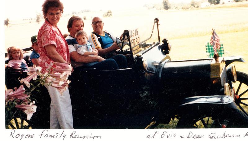"""Vivian Maxine (Dew) Habben (1927-1994)  Written in the Rogers Reunion Photo Album Volume III page 97  """"Vivian (Dew) Habben) Rogers Family Reunion at Evie & Dean Gruben's home"""""""