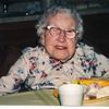 """Josie Louisa (Dew) Brinker (1897-1999) Written in the Rogers Reunion Photo Album Volume III page 63 """"Josie (Dew) Brinker photo taken July 8, 1997 born July 7, 1897 Pinecrest, Mt. Morris, Illinois – 100th birthday party."""
