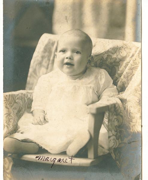 "Margaret Louise Dew (1916-2003)  Written in the Rogers Reunion Photo Album Volume III page 35 ""Baby Margaret Dew"""