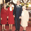 "Unknown, Katherine ""Kay"" E. (Seiter) Frawert (1934-2009), Paul Eugene Frawert b. 1927, Josie Louisa (Dew) Brinker (1897-1999)  Written in the Rogers Reunion Photo Album Volume III page 62 ""Paul and Kay Frawert""."