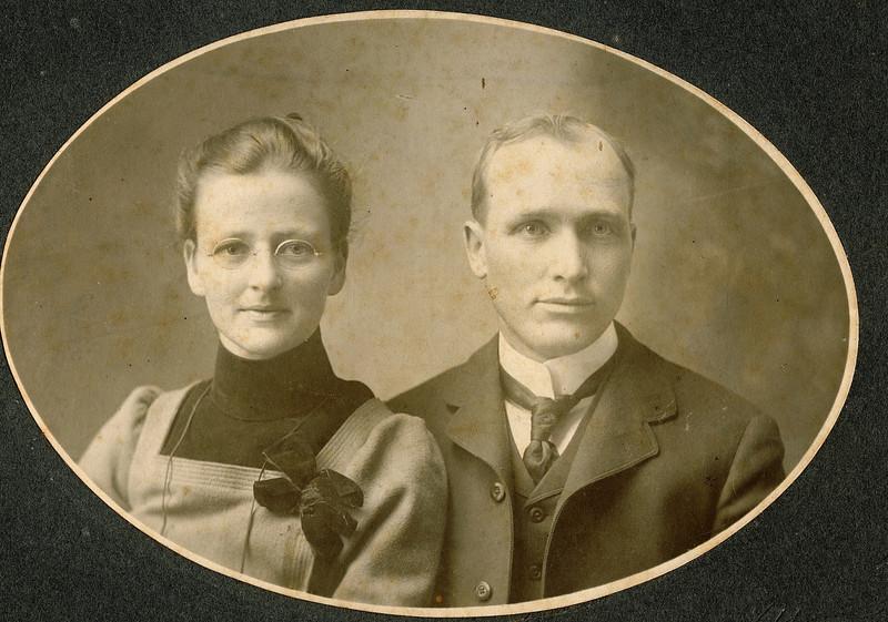 """Fannie Belle (Hays) Dew (1871-1919),  William Alfred Dew (1869-1965)  Written in the Rogers Reunion Photo Album Volume III page 15 """"William A. Dew & Fannie Hays Dew"""""""
