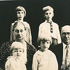 "Back row: Edna Ruth Dew (1925-2003), Robert Edwin Dew (1924-2006)<br /> Middle row: Jennie Belle (Pittman) Dew (1887-1966), William Alfred Dew (1869-1965)  <br /> Front row: Evelyn Lois Dew (1929-2004), Donna Rogers Dew (1927-2006)<br /> Written in the Rogers Reunion Photo Album Volume III page 109 ""Family by Wms' 2nd marriage Edna & Edwin - Jennie & Will - Evelyn (in Jennie's lap) & Donna."""