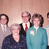 "Paul Edwin Dew (1961- ), Viola Clara (Radke) Dew (1927-2013), Robert Edwin Dew (1924-2006) Catherine Elizabeth Dew (1955-   ) David William Dew (1959 -  )  Written in the  Rogers Reunion Photo Album Volume III page 114 ""Paul, Vickie, Ed, Cathy, Dave Dew May 1983"""