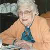 "Mary Lavinna Dew (1895-1992)  Written in the Rogers Reunion Photo Album Volume III page 57 ""Mary 1986 at a Dixon, IL restaurant"""
