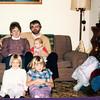 """Eileen Kay (Harvey) Murphy (1948-1997), Daniel F. Murphy holding Brian Michael Murphy (1985 -   ) Jacqueline Nadine Murphy (1981 -  ), Michelle Lynn Murphy (1978 -  )<br /> Written in the Rogers Reunion Photo Album Volume III page 88 """" Eileen & Dan (holding Brian), Jaci & Michelle  Nov 1985 photo"""""""