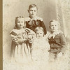 "Perry Winfield Dew (1891-1975), Byron Elmer Dew (1893-1986),Mary Lavinna Dew (1895-1992), Josie Louisa Dew (1897-1999) Written in the Rogers Reunion Photo Album Volume III page 17 under the photo "" Age 8 Perry Winfield Dew b. Sept 12, 1891, Age 6 Byron Elmer Dew b. Aug 6, 1893, Age 4 Mary Lavina (sic) Dew b. Aug 20,1895, Age 2 Josie Louisa Dew b July 7, 1897 Photo about 1899 or 1900"""
