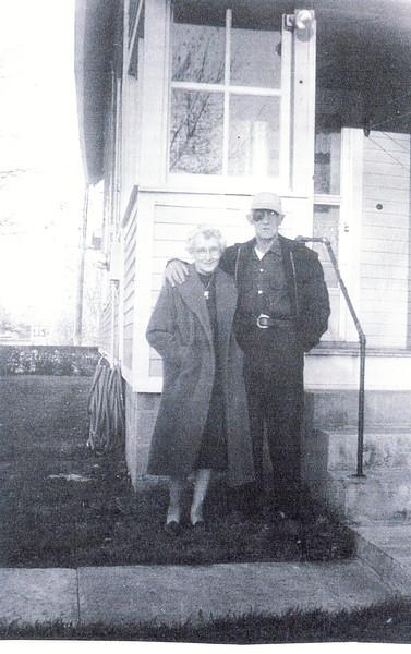 "Joseph Jack Bingaman (1895-1965), Glenna Ellen (Dew) Bingaman (1900-1997) Written in the Rogers Reunion Photo Album Volume III page 76 "" Joe and Glenna Schenectady, N.Y. Oct 31, 1963 40th wedding anniversary"""
