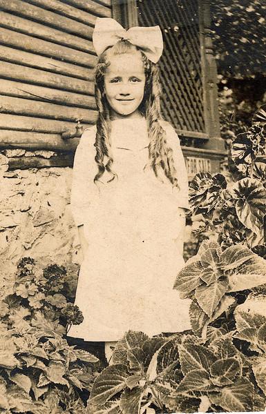 "Thelma Mae Irwin (1904-2001) Written in the Rogers Reunion Photo Album Volume II page 37 near photo ""Thelma age 10""."