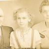 "Robert Christian Baumgarten (1879-1956), Frances Alice Roberta Baumgarten (1938 - ), Bertha Ellen (Good) Baumgarten (1897-1945)  Written in the Rogers Reunion Photo Album Volume II page 61 under the photo pictures "" Robert, Frances, Bertha under that Bertha Dew Kendel Baumgarten."""