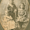 "Ruth Rosannah Good (1900-1973), Neva Adeline Good (1895-1912), Bertha Ellen Good (1897-1945)  Written in the Rogers Reunion Photo Album Volume II page 56 near photo ""ca 1901- L to R Ruth b.1900 - Neva b.1895 – Bertha b. 1897"""
