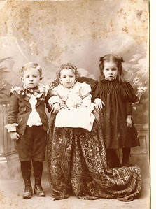 "Earl Meredith Kline (1893-1971), Ford Clark Kline (1898-1977), Hazel Edna Kline (1895-1923)  children of William B. and Lillian Permilla (Meredith) Kline. Written in the Rogers Reunion Photo Album Volume II page 19 above the photograph ""Earl (Mar 27 1893 – Oct 11, 1971), Ford (Sep 1, 1897), Hazel (Oct 23 1895 – Jan 21 1923).""  Also written on the same page ""Lillie Permilla Meredith granddaughter of Joseph & Hannah Rogers  Family of William Kline and Lillie Meredith  William Sep 29 1862 – Apr 24, 1933  Lillie Aug 17 1895 – Jul 5 1902  m. Sept 24 1890  1. a son – stillborn 2. Earl Meredith Kline 3 Hazel Edna Kline 4 Ford Clarke Kline"""