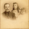"Loren Gilbert Burrows (1859 – 1918), Grace Milicent Burrows (1881-1904), Vivian Burrows (1885 - Alive in 1957) Written in the Rogers Reunion Photo Album Volume II below the photograph ""Loren Burrows and his daughters Grace & Vivian""."