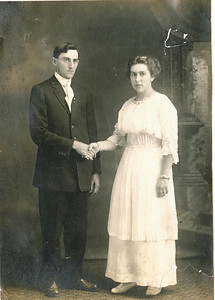 "Harry Elton Hayes (1890-1977) and Hazel Edna Kline (1895 – 1923) married August 25, 1914 in Kersey, Elk County, Pennsylvania. Written in the Rogers Reunion Photo Album Volume II page 19 above the photograph ""Hazel Kline married Harry Hayes Aug. 25, 1914"""