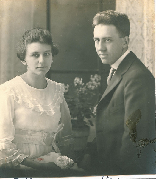"""Ruth Rosannah (Good) Lang (1900-1973) and James Lang (1898 – 1952). Written in the Rogers Reunion Photo Album Volume II page 64 under the photo """"Ruth & Jim.  As part of the pedigree on the page Ruth Rosannah Good married James Lang Sept 11, 1919."""""""