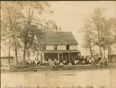 Leonard Burrows House on the Kaukakee River (Il)  Rogers Reunion Photo Album Volume II.