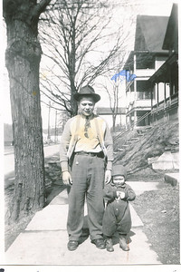 "Frank Case  ""Popeye"" Meredith (1930-1981) and Richard Paul Meredith (1943 - ) Written in the Rogers Reunion Photo Album Volume II page 26 with the photograph ""1945 photo Frank Meredith Jr. Richard Paul Meredith (half brothers) both sons of Mary Meredith"""