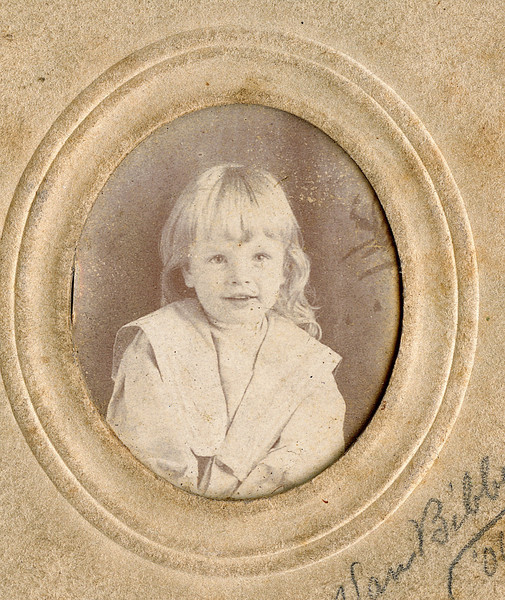 """Harold Petty son of Irve Petty and his wife Grace Burrows. Born about 1904.  Written above the photograph """" Grace's son Harold Petty""""  Written in right hand corner """"Van Bibber '06"""".  Located in the Rogers Reunion photo album Volume I, page 13."""