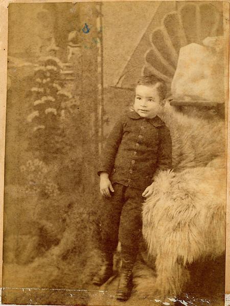 """Orlo H. Shaver (1873 - 1958) son of Orlo H. Shaver and Ruey Jerusha Rogers.  Written in the Rogers Reunion Album Volume 1 page 36 """"Orlo Shaver as a child.  Orlo married Della Blackburn."""""""
