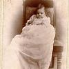 "Hazel Shaver (1895 - 1966) daughter of Orlo Harry Shaver and Della Blackburn) married Irwin Fox on April 30, 1917. Written in the Rogers Reunion Photo Album Volume I, page 36 ""Hazel Shaver baby daughter of Orlo Shaver.  Hazel married Irwin C. Fox (no children)."" ""Oleson Photo – Dekalb, IL"""