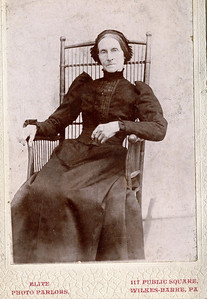 Calista (Scouten) Clark (July 19, 1817 - November 15, 1899) wife of George Doty Clark (1815-1892).  Photo taken at Elite Photo Parlors, 117 Public Square, Wilkes-Barre, PA