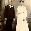 "Harry Reasman Meredith (December 18, 1866 - December 1, 1934) son of James Reasman Meredith and Permilla Alvira Rogers. Mabel Elizabeth Case (September 28, 1881 - May 15, 1964) daughter of James E. Case and Emma Permilla Meredith.  Their wedding photograph.  They were married September 15, 1905.  The writing in the Rogers Reunion Photograph Album Volume 1, page 20 says ""Wedding Photo - married Sept 11, 1905.  Written on the back of the photograph Paul 1907, Frank 1911, Grace 1912, Wayne 1913-1939, Glenn 1917, Emogene 1918, Ford 1921, Zella 1922, Katherine 1924  Meredith""  These are the children of Harry and Mabel."
