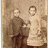 "Miles Sherman Rogers (1850-1933) and Ada Anna Rogers (1876-1954) children of Gilbert Plummer Rogers and Rachel Abby Ripley.  Handwritten on the photo ""Miles 6 Ada 8"""