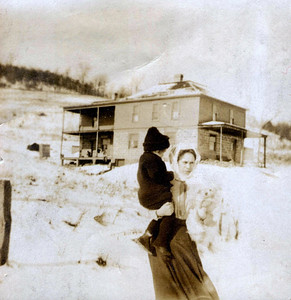 Inez Effie Young Dickey and son Gilbert Young